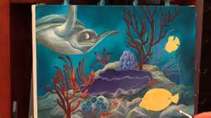 Acrylic Paint For Wall Murals acrylic painting how to paint tropical reef youtube