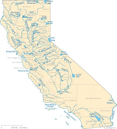 map of california state map of california