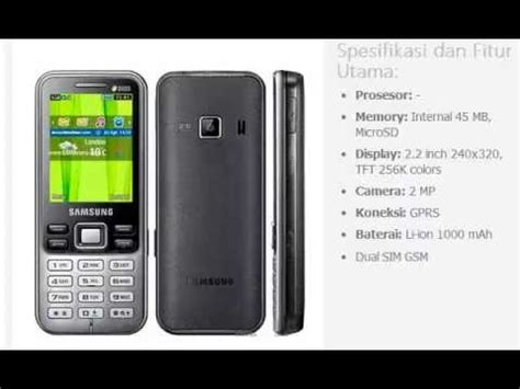 Handphone Samsung Duos samsung c3322