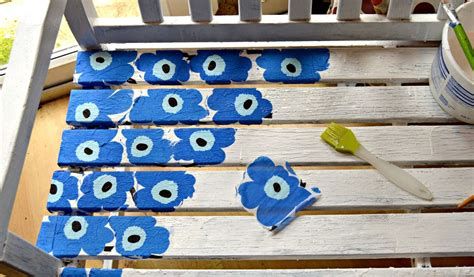 Decoupage For Outdoors - hometalk easy to make a marimekko bench using paper napkins