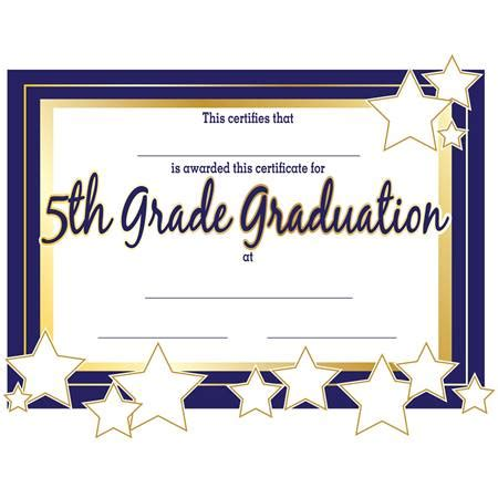 5th grade graduation certificates anderson s