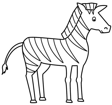 zebra coloring page - Free Large Images
