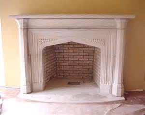 kamin englisch tudor artisans carved limestone fireplaces door