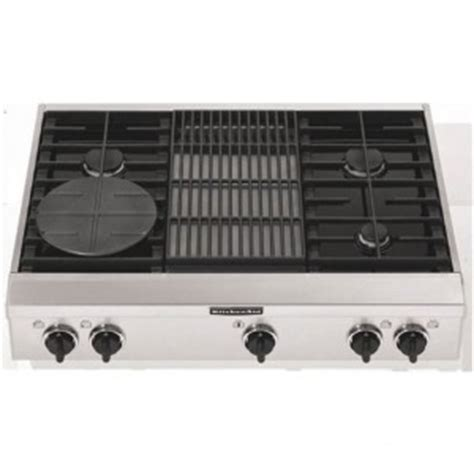 Grill Plate For Gas Cooktop kitchenaid kgcp462kss 36 quot sealed burner commercial style