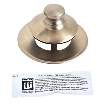 Universal Nufit Bathtub Stopper by Watco Universal Nufit Push Pull Bathtub Stopper Non Grid Strainer And Silicone In Brushed