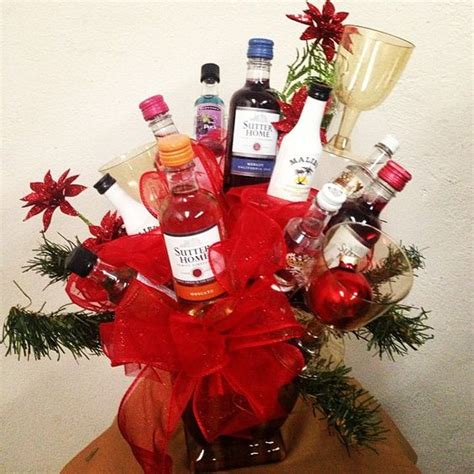merry christmas baskets and liquor on pinterest