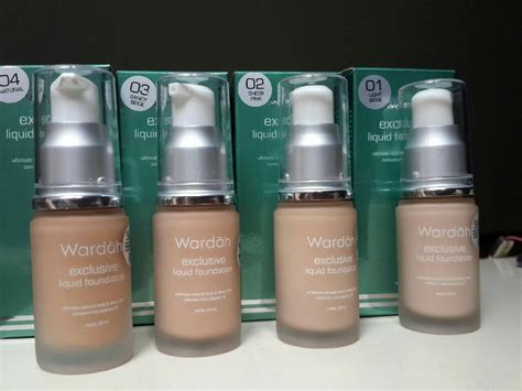 Harga Wardah Exclusive Liquid Foundation Light Beige foundation wardah harga lengkap trending by shopsmart