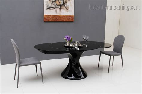 dining room table black black lacquer dining room table