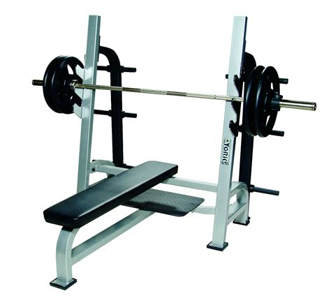 olympic flat bench press sts olympic flat bench w gun racks york barbell
