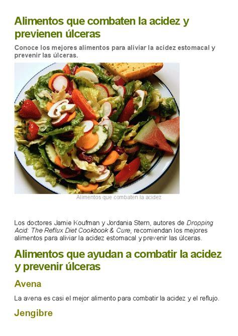 alimentos  combaten la acidez  previenen ulceras yudith pezzente academiaedu