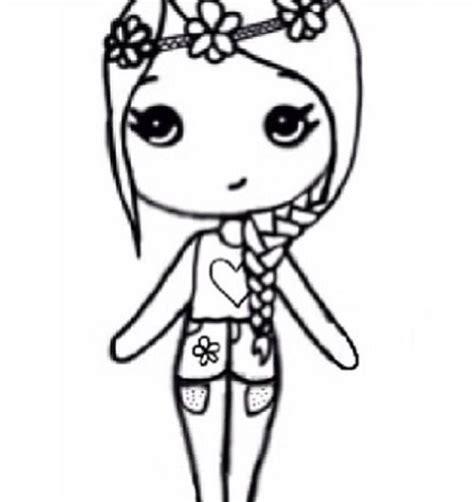 imagenes para dibujar faciles y bonitas flower child chibi cutie girls pinterest dibujo