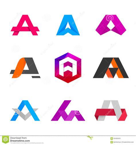 logo lettere letter a logo icon design template elements stock vector