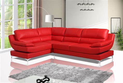 Red Leather Corner Sofa How Much Do I Leather Sofas Second
