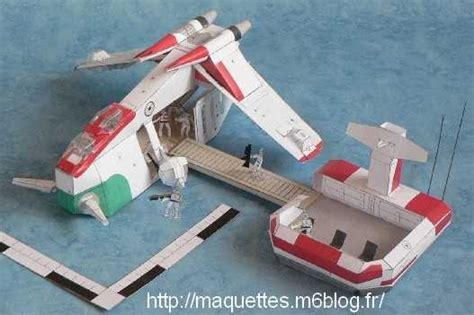 Wars Papercraft Models - wars republic attack gunship 2nd version po