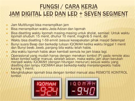 Jam Waktu Sholat Digital Bandung Remote Kbl Suara Mp3 Fitur Lengkap jual jam sholat digital di jakarta murah bergaransi