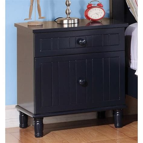 Navy Blue Nightstand by Coaster Zachary 2 Drawer Nightstand In Navy Blue 400692