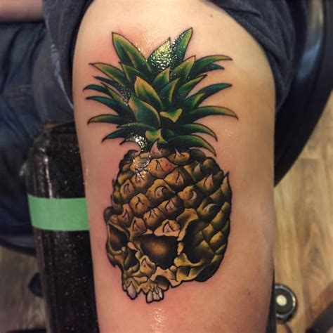 63 amazing pineapple tattoo idea for people who are