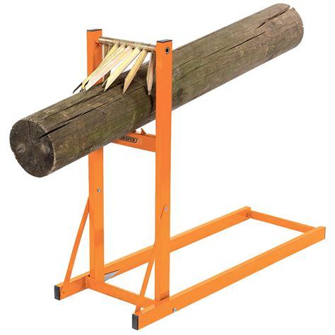log cutting saw bench draper log stand saw horse for chainsaw wood cutting