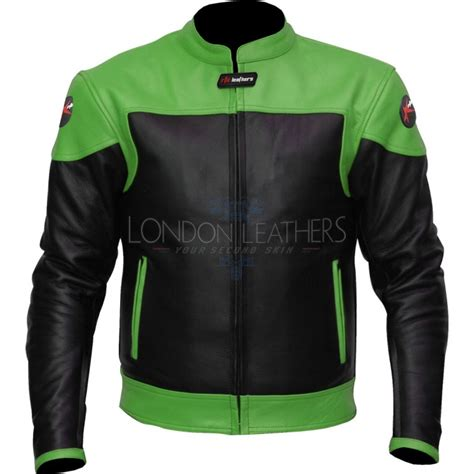 green motorcycle jacket rtx venom green leather biker jacket