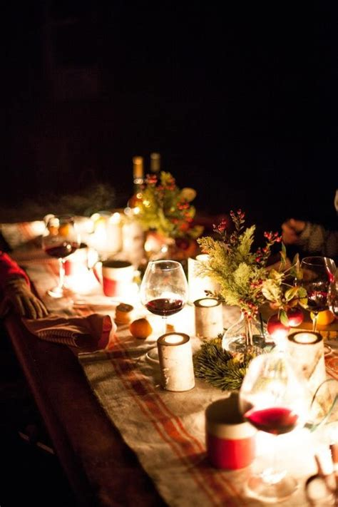 beautiful outdoor christmas table setting ideas
