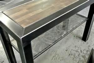 meuble york acier et bois terre et metal