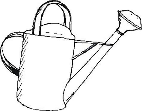 Watering Can Outline Clipart Best Watering Can Coloring Page