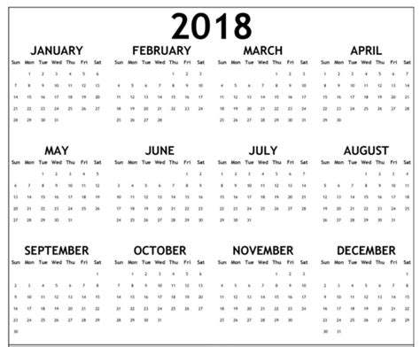 large calendar for 2018 with all holidays printable monthly