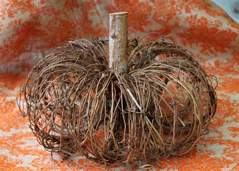 craft a natural pumpkin from grapevine wreaths hgtv