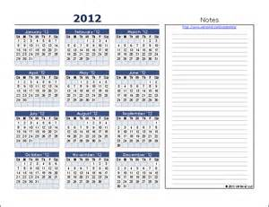 Calendar Template With Notes by Yearly Calendar Template For 2016 And Beyond