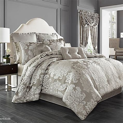 j queen new york bedding j queen new york chandelier comforter set in silver