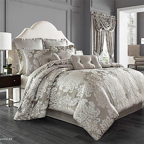 metallic comforter j queen new york chandelier comforter set in silver