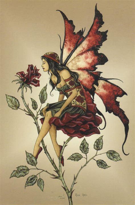 faerie tattoo designs brown faery print postcard 4x6