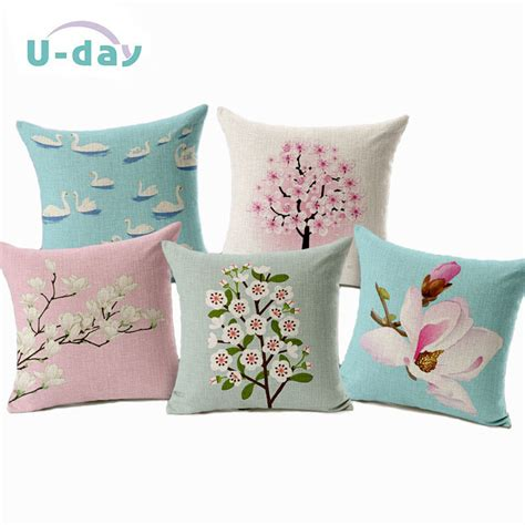 coussin decoration aliexpress buy flower decorative pillows home car tree cushions funda cojines wave coussin