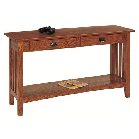 Solid oak sofa table amish mission sofa table country lane furniture
