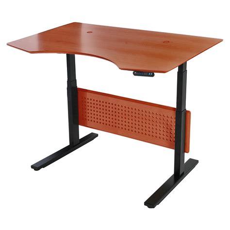 Sit Stand Modern 51x37 Adjustable Cherry Desk Eurway Sit Stand Adjustable Desk
