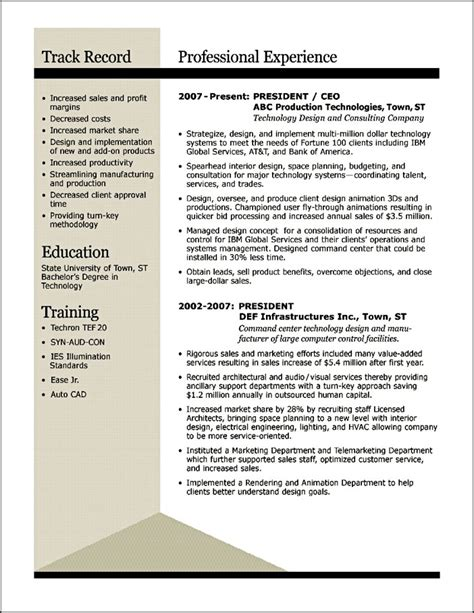 Winning Resume by Award Winning Resume Exles Sle Resume