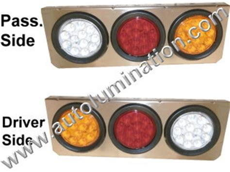 semi truck light assembly led replacement taillights auxiliary lights 5th wheel