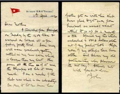 titanic passenger's letter sells for $40,700 in new york