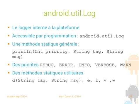 android util log in01 programmation android 02 android