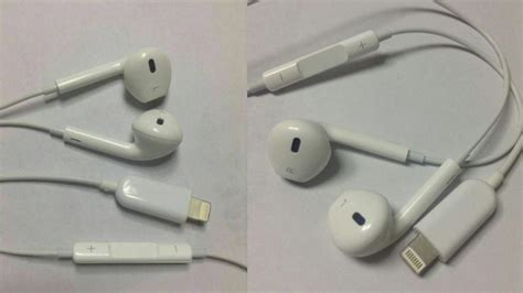 iphone 7 headphones new lightning earpods photos appear mobile