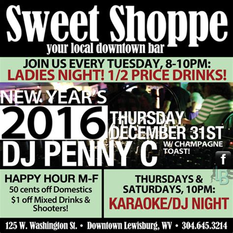 the sweetest day karaoke new year s dj karaoke at the sweet shoppe