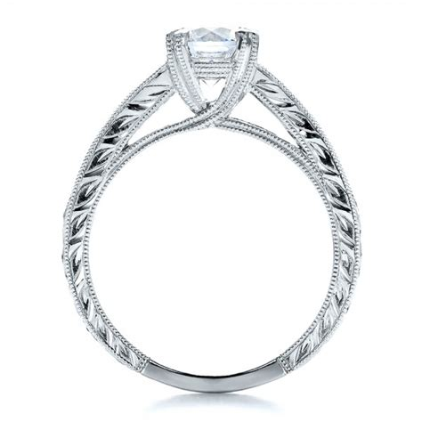 channel set engagement ring with matching wedding
