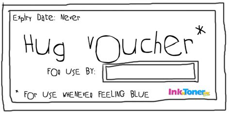 printable vouchers for days out in uk feeling blue print out free hug voucher inkntoneruk blog