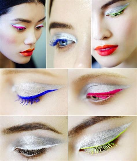 colorful eyeliner silver shadow colorful eyeliner is a stunning combo