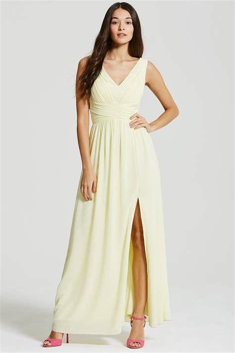 Lemon Empire Line Maxi Dress From Little Mistress Uk