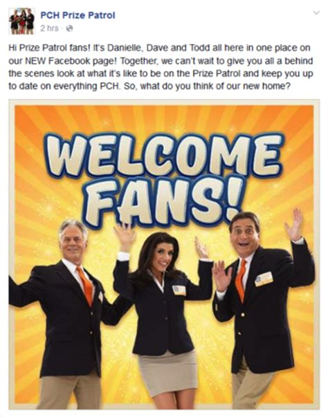 Pch Prize Patrol Facebook Page - check out the new pch prize patrol fan page on facebook pch blog
