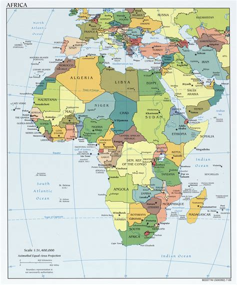 africa map with cities zambia cia map