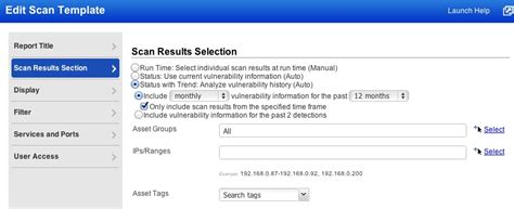 scan report template automatic vs manual data qualys