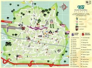 map of bandung city santika hotel bandung indonesia in indonesia