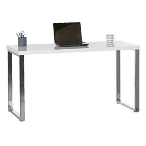 white x leg desk contour loop leg desk white and chrome officeworks